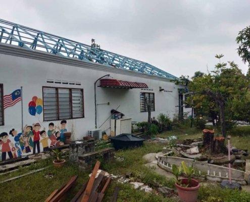 Steel Truss & Roofing Installation @ Seri Serdang
