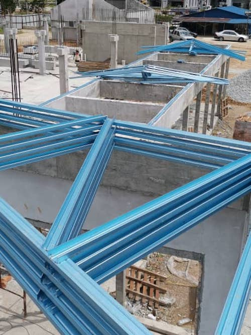 Steel Trusses & Roofing Installation @ Rawang