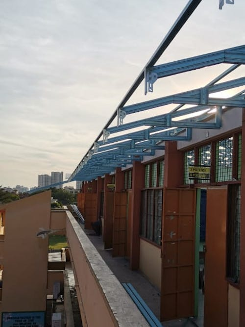 Steel Truss & Roofing Installation @ Ampang