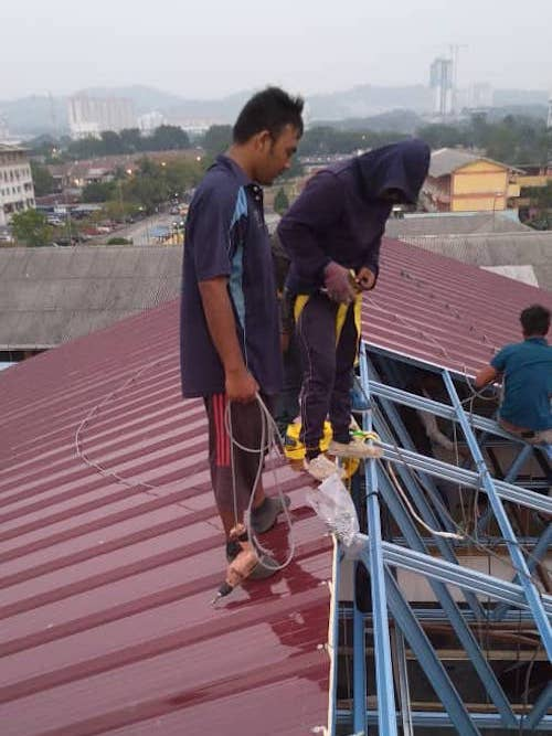 Steel Truss & Roofing Installation @ Puchong Perdana